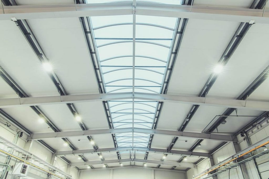 Industrial warehouse ceiling