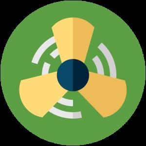 flat icon of fan blades